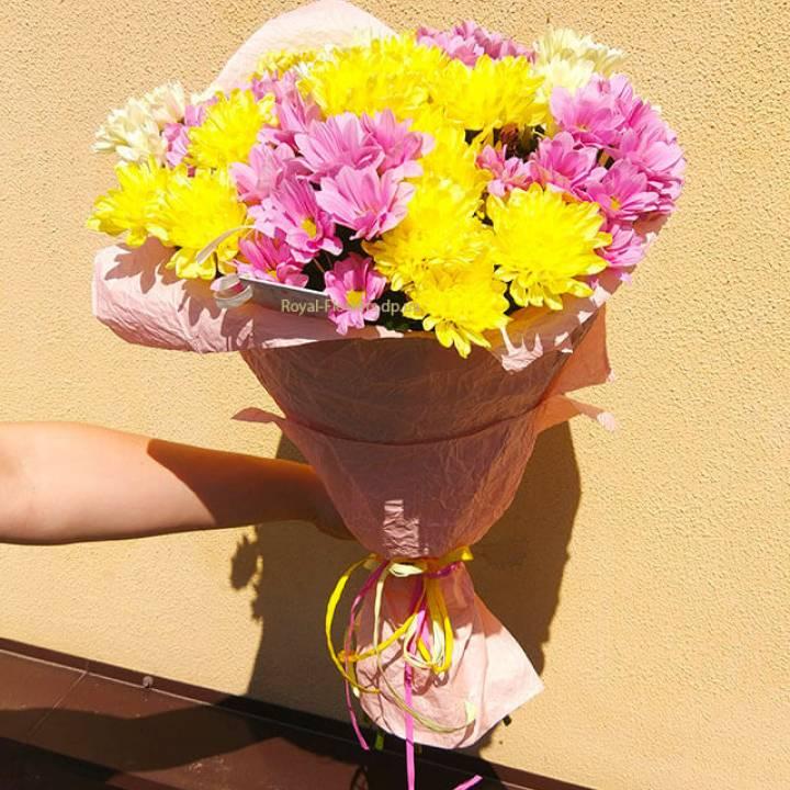 Букет Хризантемы Весенний микс