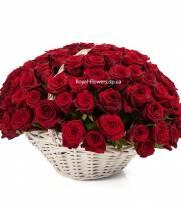 Корзина 101 красная роза Гран-При