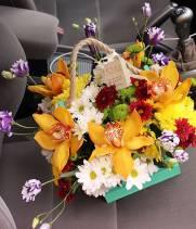 Корзина цветов Organic №1