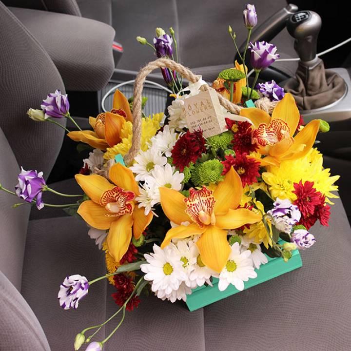 Цветочная корзина - Organic №1