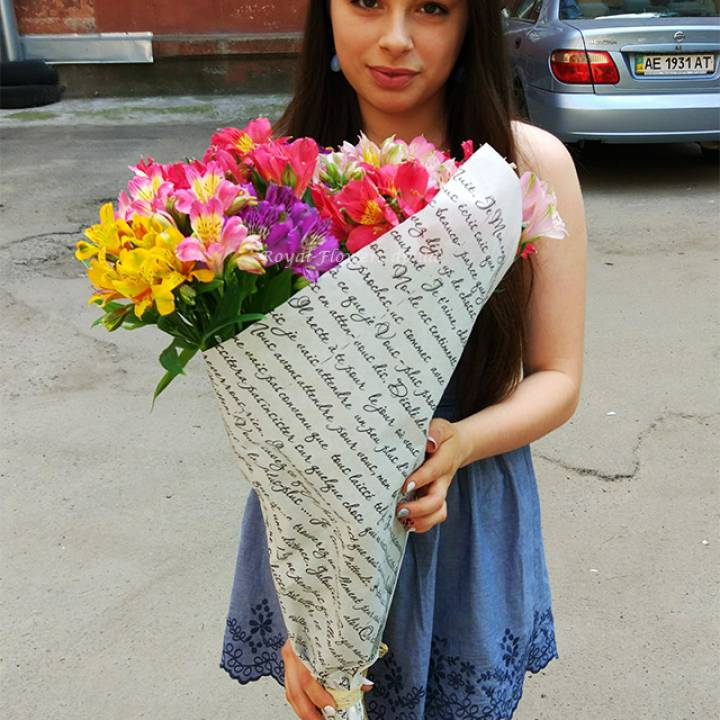 25 альстромерий микс - цветы - Днепр