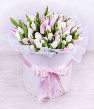 45 тюльпанов - Коробка нежности