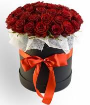 """51 красная роза в коробке """"Стиль"""""""