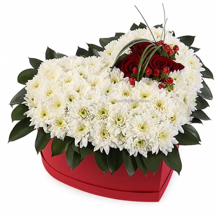 Цветы в коробке Любовь на Век