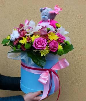 Цветы и Мишка Teddy