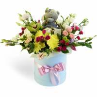 Цветы и Мишка Teddy для Неё
