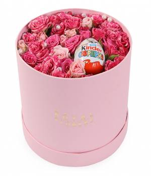 Коробка Нежность из кустовых роз