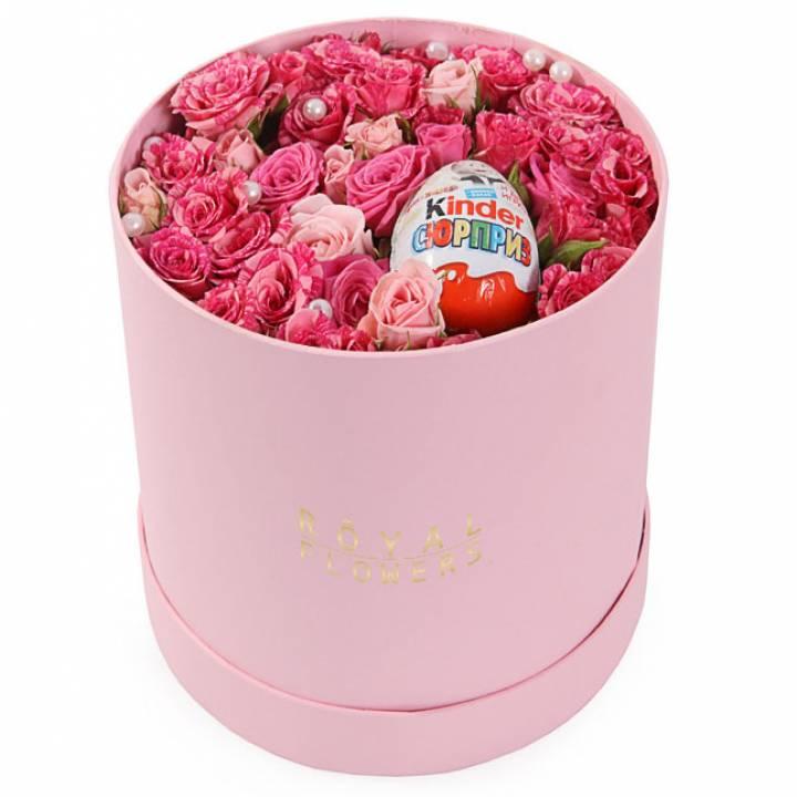 Букет нежность розы в коробке