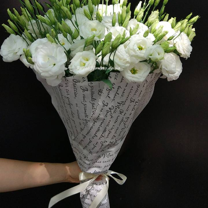 Букет из белой эустомы - цветы - Днепр