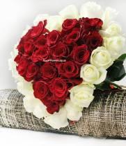 Сердце  из 39 роз