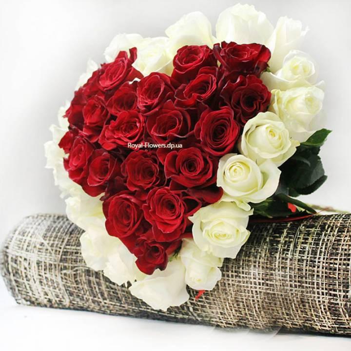 Букет Сердце  из   39 роз