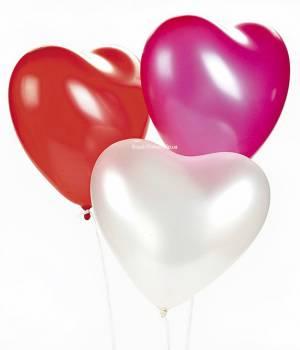 Гелиевые шары сердце 3 шт