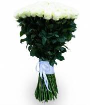 101 белая метровая роза - Мондиаль