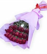 Купидон 25 красных метровых роз