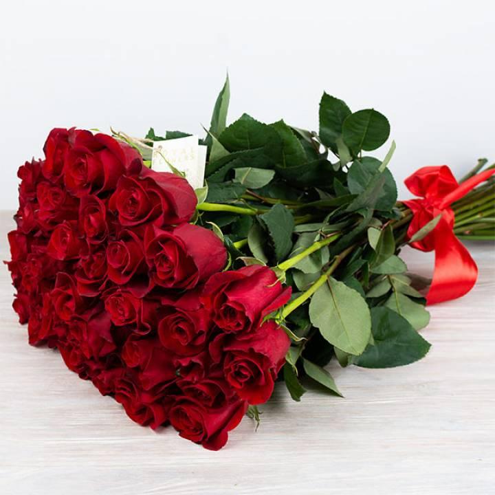 """25 красных премиум роз """"Эквадор"""""""