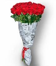 51 красная метровая роза