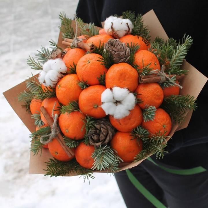 Букет Зимние мандаринки