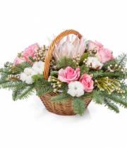 Зимняя цветочная корзина 12 месяцев