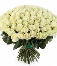 Букет из 101 белой Импортной розы
