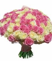 101 Кремово-розовая роза