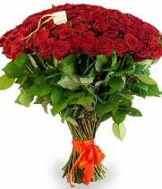 101 красная роза высота 70-80см
