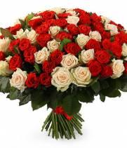 Три цвета 101 роза