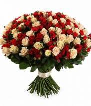Букет Ягоды на снегу из 101 розы