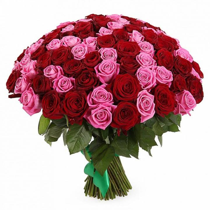101 роза в букете  - Нежность и страсть