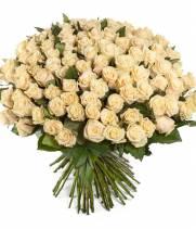 Букет из 101 розы пастельного тона Талея