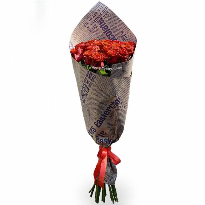 3 Красные розы Престиж