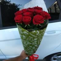 11 красных роз - сорт Гран-При