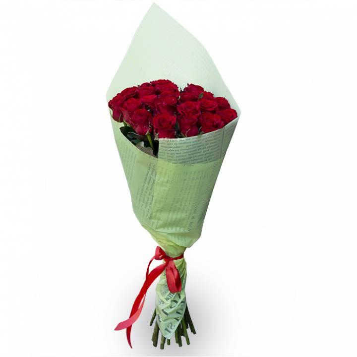 Букет из 21 красной розы - сорт Ред Игл