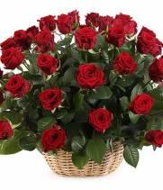 Корзина красных роз № 51