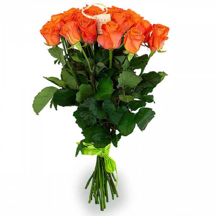 Букет оранжевых роз сорт Вау 21 шт
