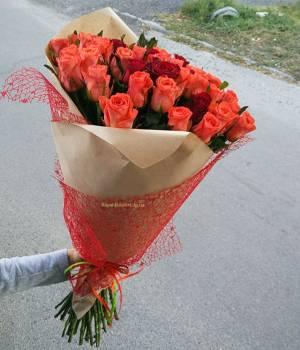 51 роза - Букет Любовь - Морковь