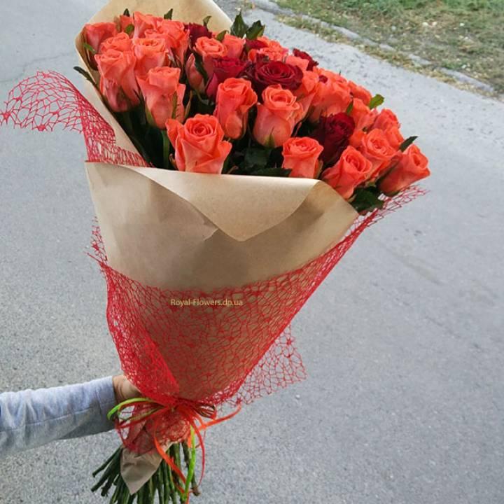 Букет из 51 розы - Любовь Морковь