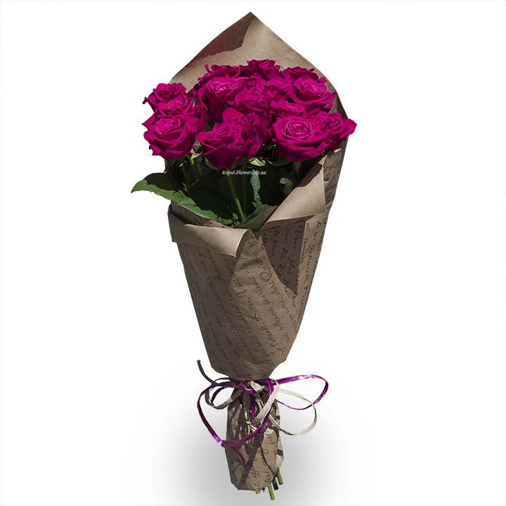 21 малиновая роза - Шангри-Ла - Монобукет