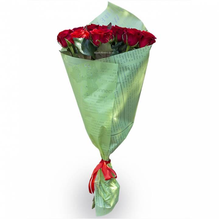 Букет из 11 красных роз - сорт Ред Игл