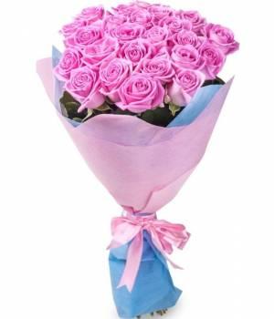 25 розовых роз, Аква