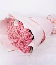 39 розовых роз Аква