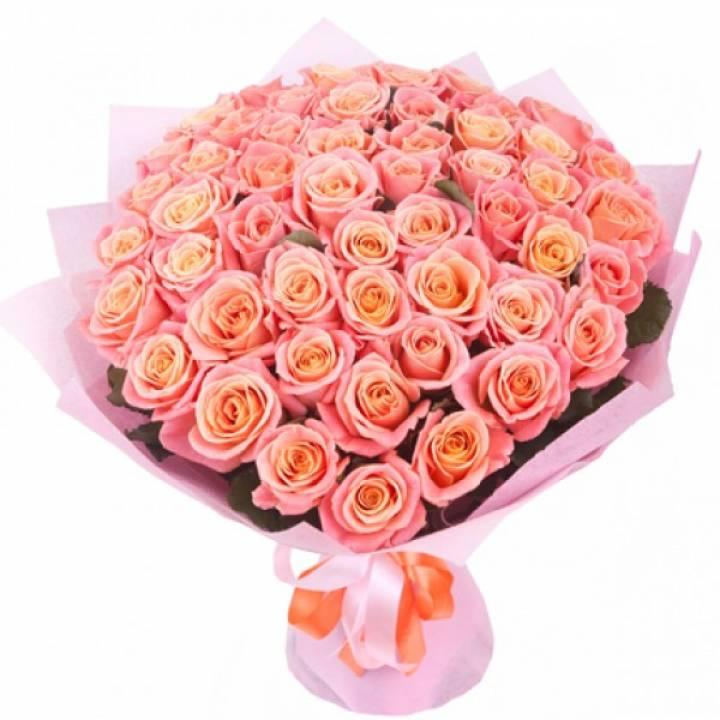 Букет из роз сорт Мисс Пиги