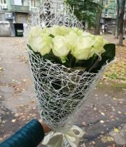 11 белых роз - Букет: Белое счастье