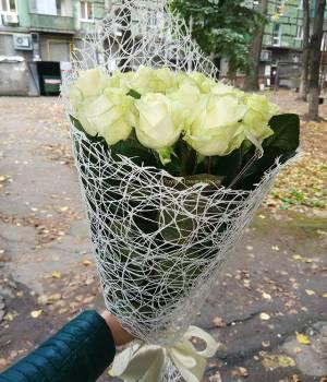 11 белых роз - Букет Белое Счастье
