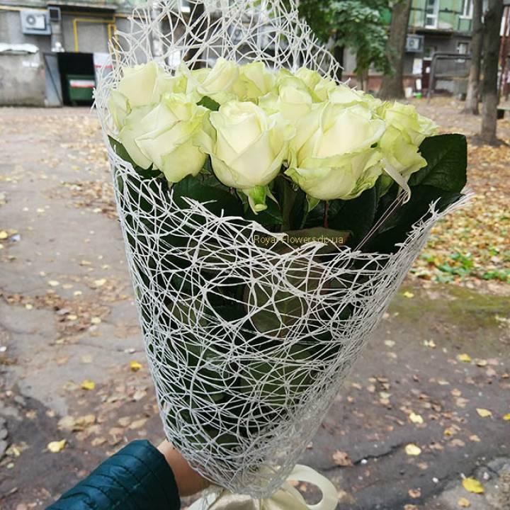 Букет из 11 белых роз - Белое счастье