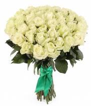 Букет из  51 белой премиум розы