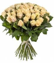 51 роза кремового цвета, сорт Талея