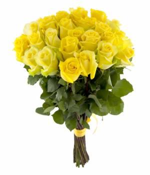 Букет из  25 желтых роз - Премиум