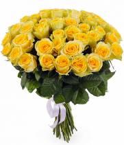 Букет из 51 желтой розы Илиос