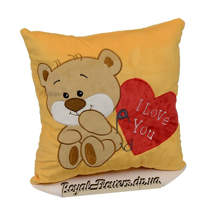 Плюшевая подушка: Люблю тебя , мишка