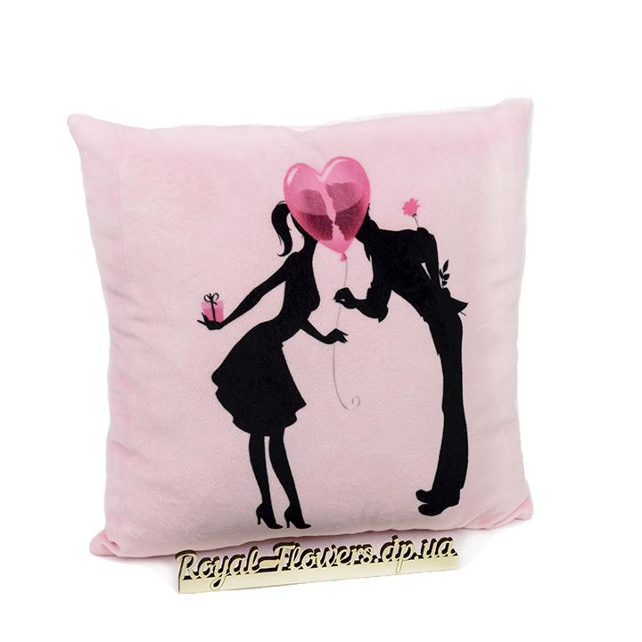 Плюшевая подушка: Воздушный шар любви